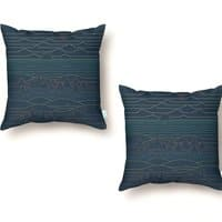 Linear Landscape - throw-pillow - small view