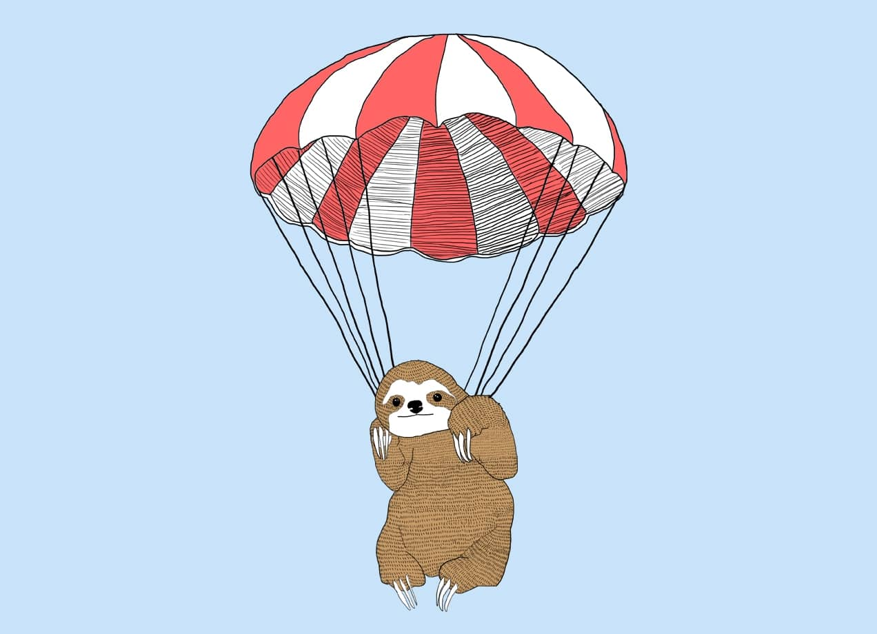 Parachuting Sloth By Keren Boshi Threadless