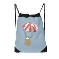 Parachuting Sloth - drawstring-bag - small view