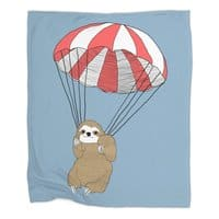 Parachuting Sloth - blanket - small view