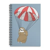 Parachuting Sloth - spiral-notebook - small view