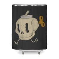 Skull Bomb - shower-curtain - small view