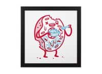 Zombie Donut - black-square-framed-print - small view