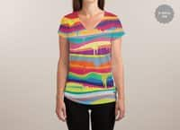 The Melting - womens-sublimated-v-neck - small view