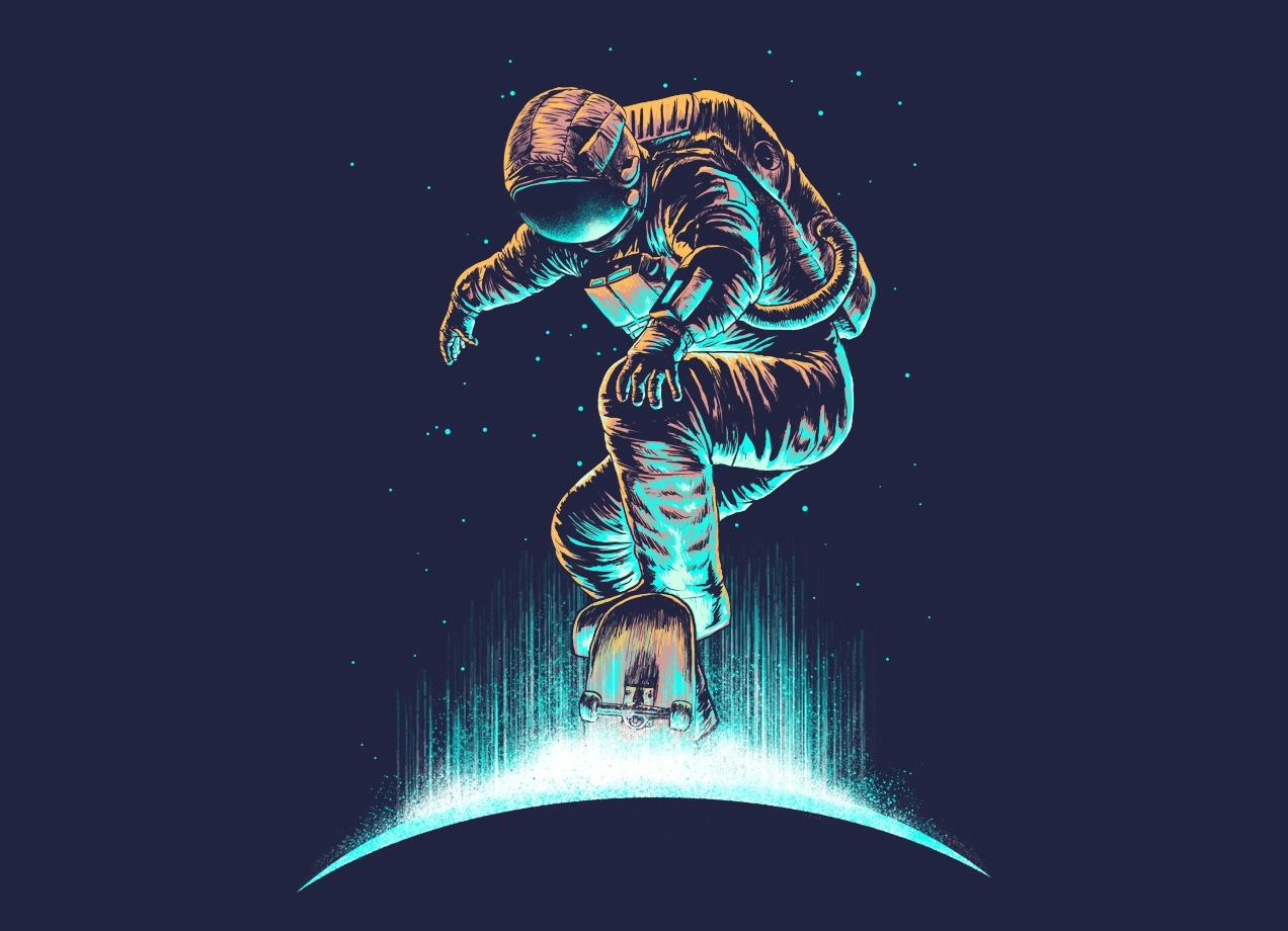 Space Grind By R Gegen Noviara Amp Bokien Threadless