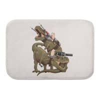 Cats Riding T-Rexs! - bath-mat - small view