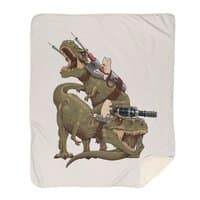 Cats Riding T-Rexs! - blanket - small view