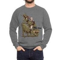Cats Riding T-Rexs! - crew-sweatshirt - small view