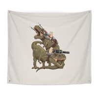 Cats Riding T-Rexs! - indoor-wall-tapestry - small view