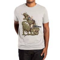 Cats Riding T-Rexs! - mens-extra-soft-tee - small view