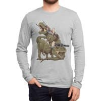 Cats Riding T-Rexs! - mens-long-sleeve-tee - small view