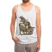 Cats Riding T-Rexs! - mens-triblend-tank - small view