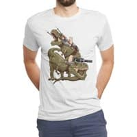 Cats Riding T-Rexs! - mens-triblend-tee - small view