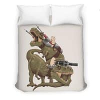 Cats Riding T-Rexs! - duvet-cover - small view