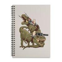 Cats Riding T-Rexs! - spiral-notebook - small view