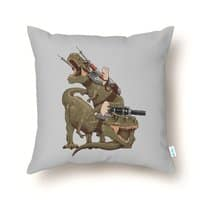 Cats Riding T-Rexs! - throw-pillow - small view
