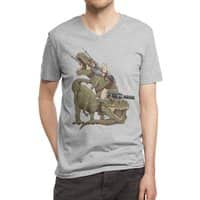 Cats Riding T-Rexs! - vneck - small view