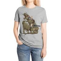 Cats Riding T-Rexs! - womens-extra-soft-tee - small view