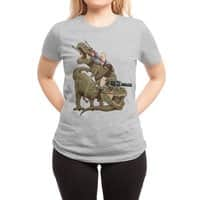 Cats Riding T-Rexs! - womens-regular-tee - small view
