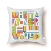 What a Wonderful World - throw-pillow - small view