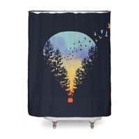 Flying Far Far Away - shower-curtain - small view