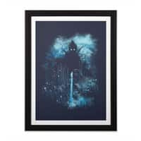 Cthulu Class 5 vs Little Hero - black-vertical-framed-print - small view