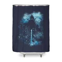 Cthulu Class 5 vs Little Hero - shower-curtain - small view