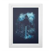 Cthulu Class 5 vs Little Hero - white-vertical-framed-print - small view