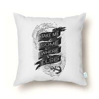 Take Me Somewhere Else - throw-pillow - small view