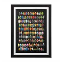 Mini Pixels - black-vertical-framed-print - small view