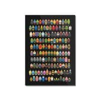 Mini Pixels - vertical-mounted-acrylic-print - small view