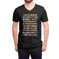 Mini Pixels - vneck - small view