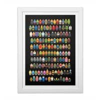 Mini Pixels - white-vertical-framed-print - small view