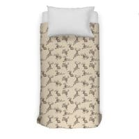 Where the Jackalopes Play - duvet-cover - small view