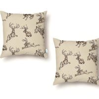Where the Jackalopes Play - throw-pillow - small view