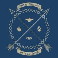 Native Coat of Arms: Threadless Guys Pima Tee - small view
