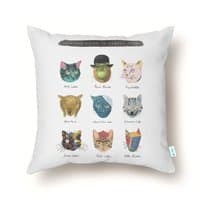 Art & Meow - throw-pillow - small view