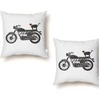 Purrfect Roadtrip... - throw-pillow - small view