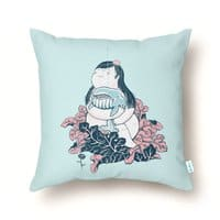 Whale Huggin' - throw-pillow - small view
