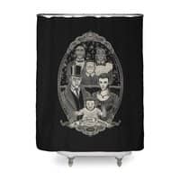Strange Portrait of a Perfect Family - shower-curtain - small view