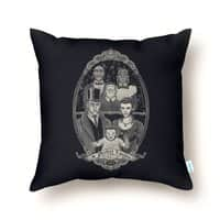 Strange Portrait of a Perfect Family - throw-pillow - small view