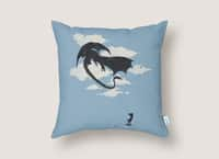 LITTLE GIRL PLAYING - throw-pillow - small view