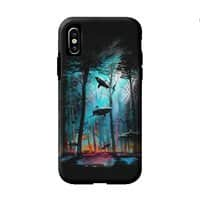 Shark Forest - double-duty-phone-case - small view