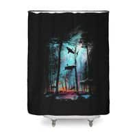 Shark Forest - shower-curtain - small view