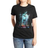 Shark Forest - womens-extra-soft-tee - small view