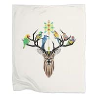 Deer Birds - blanket - small view