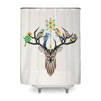 Deer Birds - shower-curtain - small view
