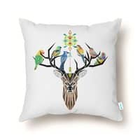 Deer Birds - throw-pillow - small view