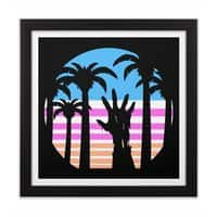 Trouble in Paradise - black-square-framed-print - small view