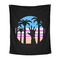 Trouble in Paradise - indoor-wall-tapestry-vertical - small view